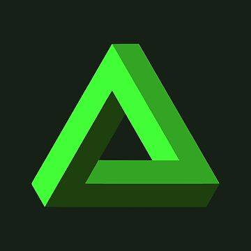 Impossible Triangle (Green) by realmatdesign