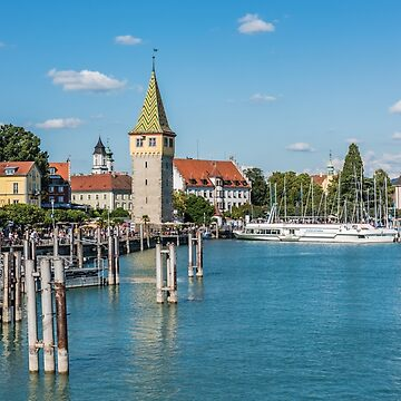 View of Lindau town, Bodensee, Germany by dvoevnore
