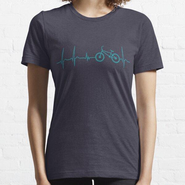 Heartbeat BMX Bike T-Shirt - Cool Funny Nerdy Comic BMX Driver Humor Quote Sayings Shirt Gift Gift Idea Essential T-Shirt