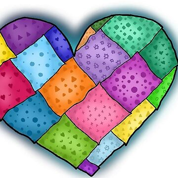 Patched quilt Heart by katrinahajowyj