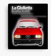 Alfa Romeo Giulietta 82' Canvas Print