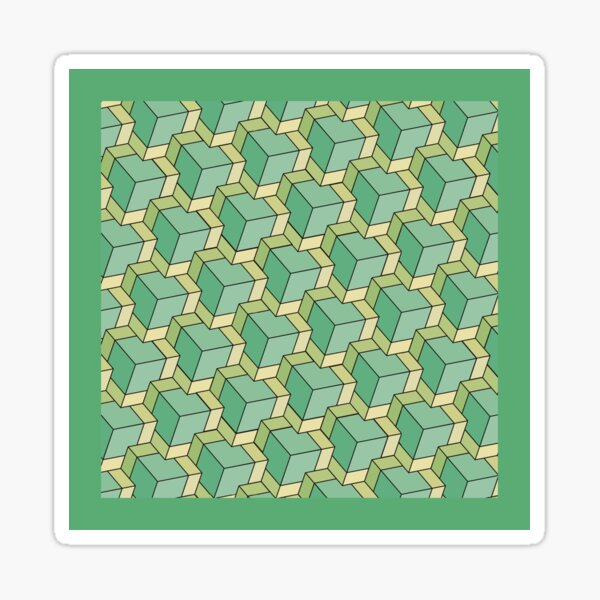 Pattern 003: Cubes GN Sticker