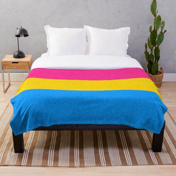 Pansexual Pride Flag Throw Blanket