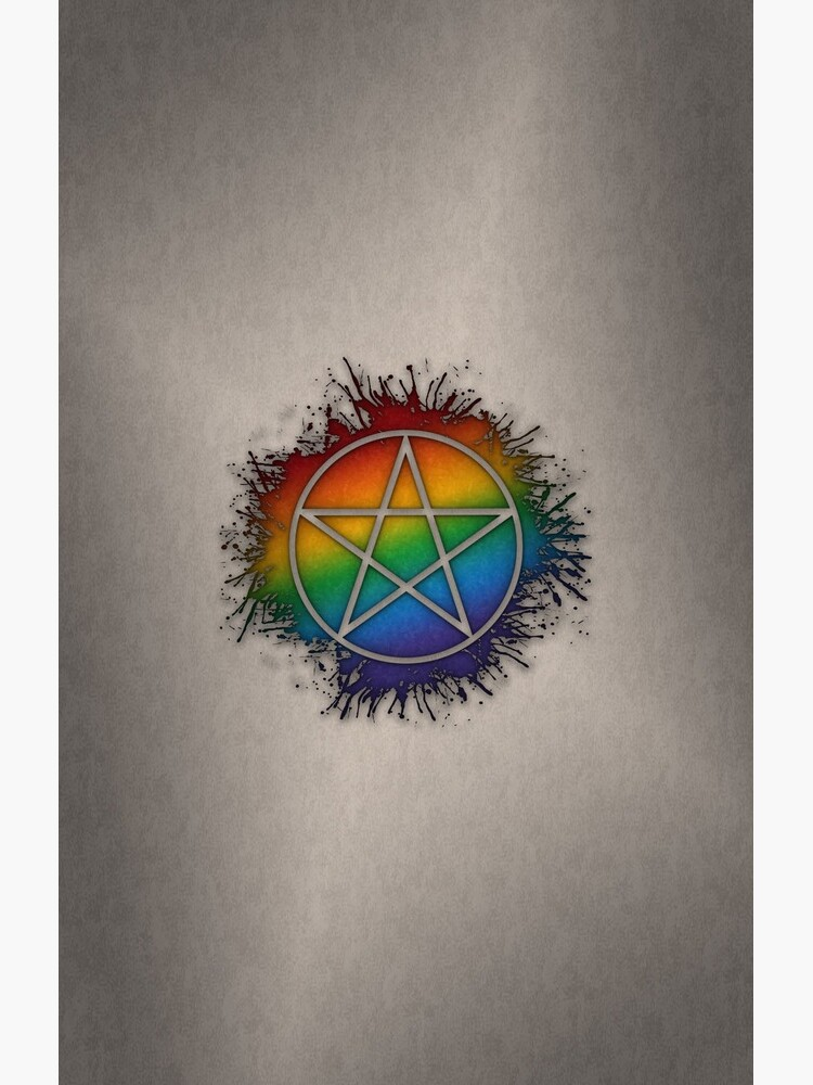 Rainbow Pentacle by LiveLoudGraphic