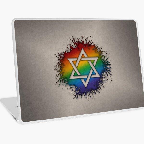 Rainbow Star of David Laptop Skin