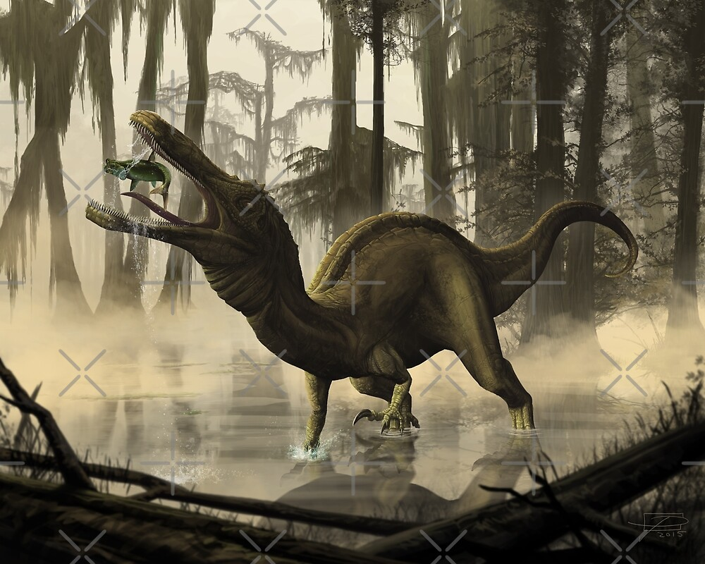 Baryonyx by Jeff Powers Illustration