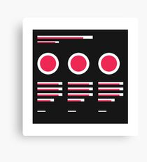 User interface wireframe icons Canvas Print