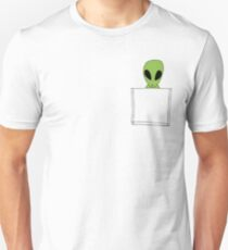 Funny Pocket Alien Unisex T-Shirt