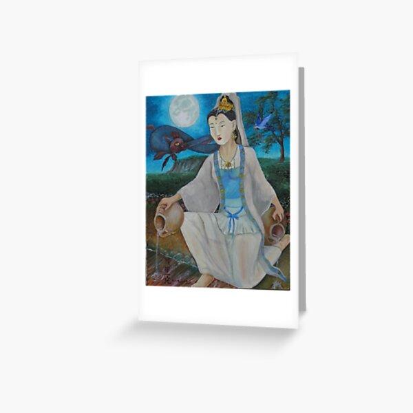 Quan Yin, Jewel In the Lotus  Greeting Card