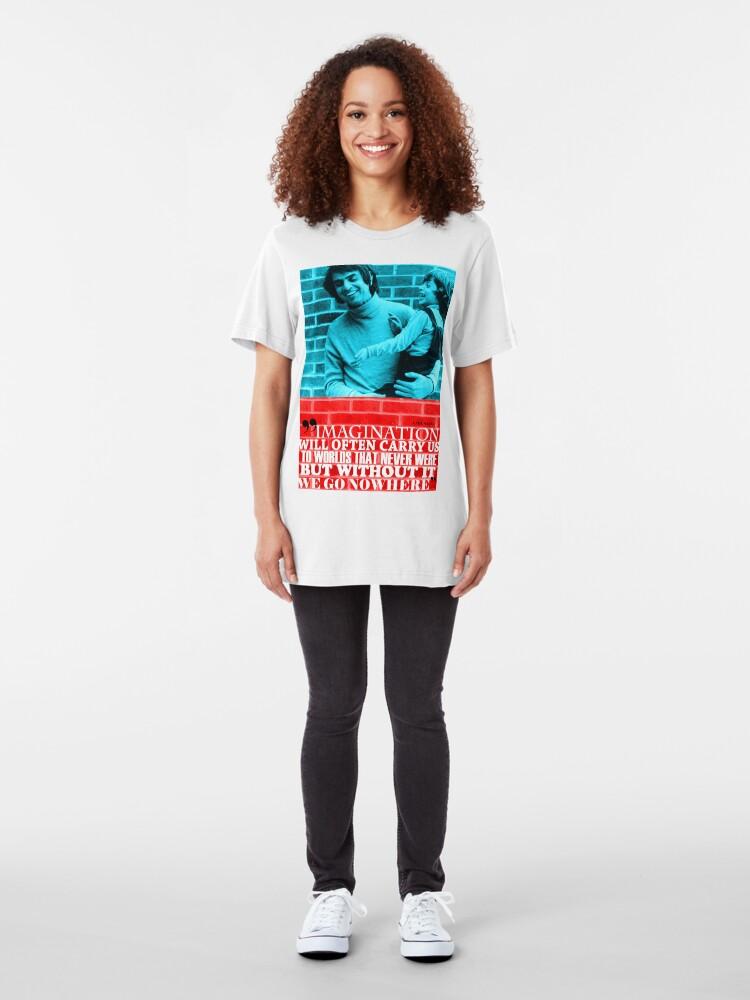 Alternate view of Carl Sagan Inspirational Quote  Slim Fit T-Shirt
