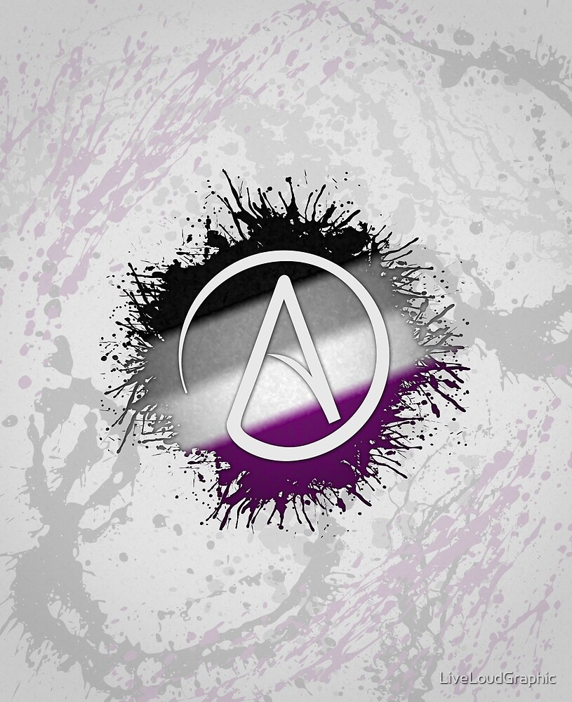 Atheist Symbol Asexual by LiveLoudGraphic