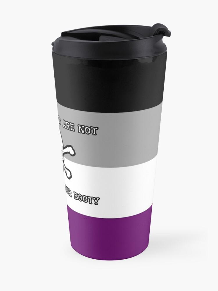 Alternate view of Asexual Pirates Travel Mug