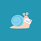 Blue snail mail by petitspixels