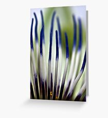 Blue flames Greeting Card