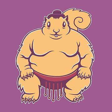 Sumo Squirrel by strangethingsA