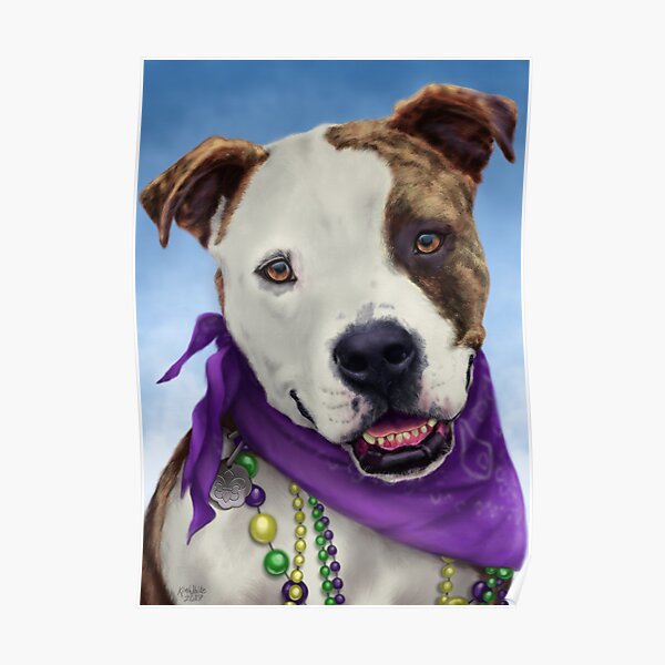 Mardi Gras Dog Poster