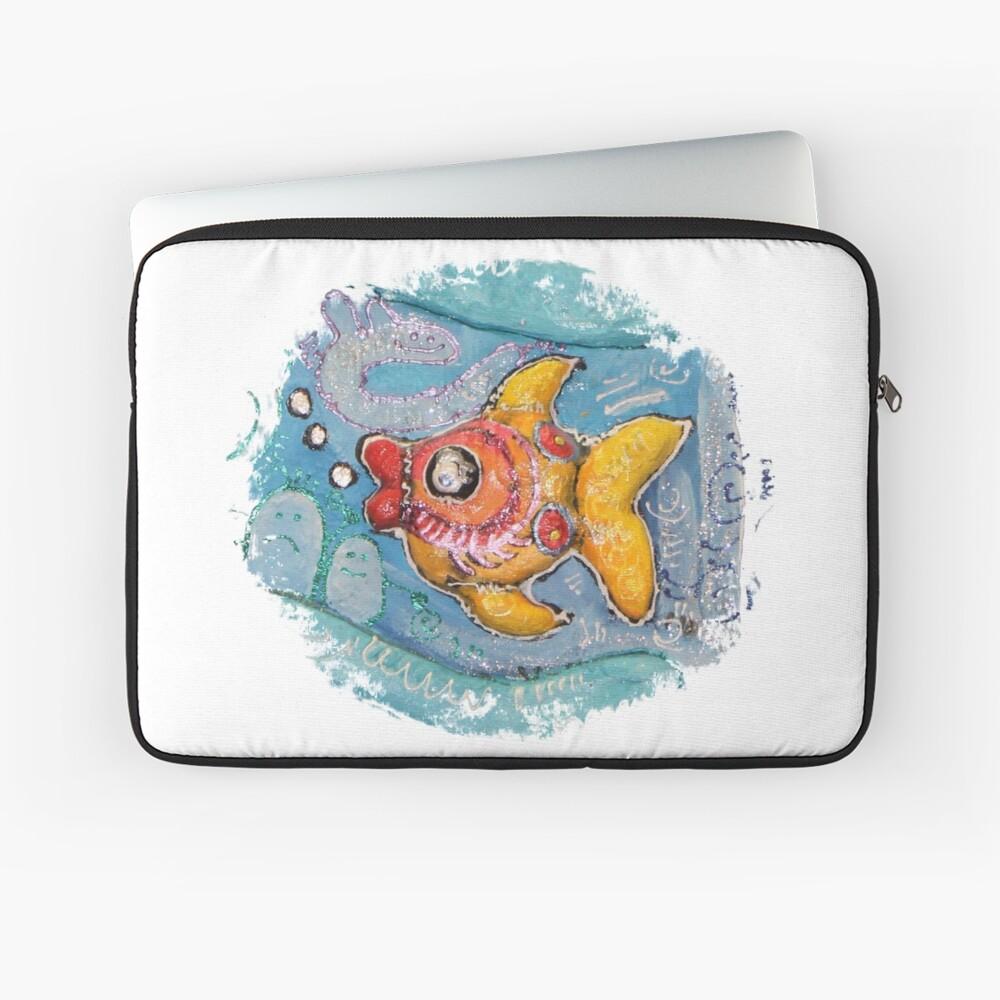 Bunter Fisch Malerei Laptoptasche