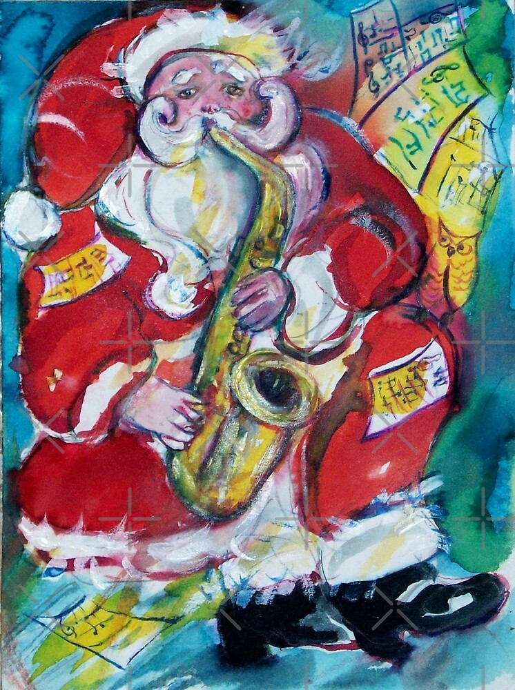 SANTA AND SAX, MUSICAL CHRISTMAS PARTY by BulganLumini