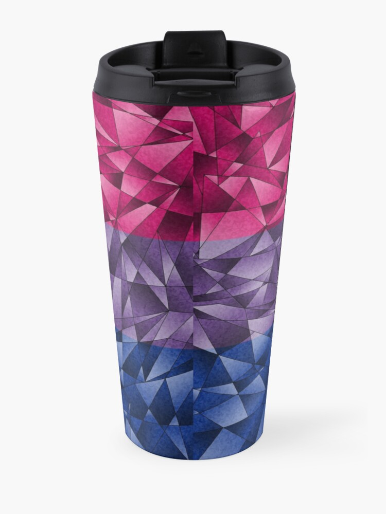 Alternate view of Abstract Bisexual Flag Travel Mug
