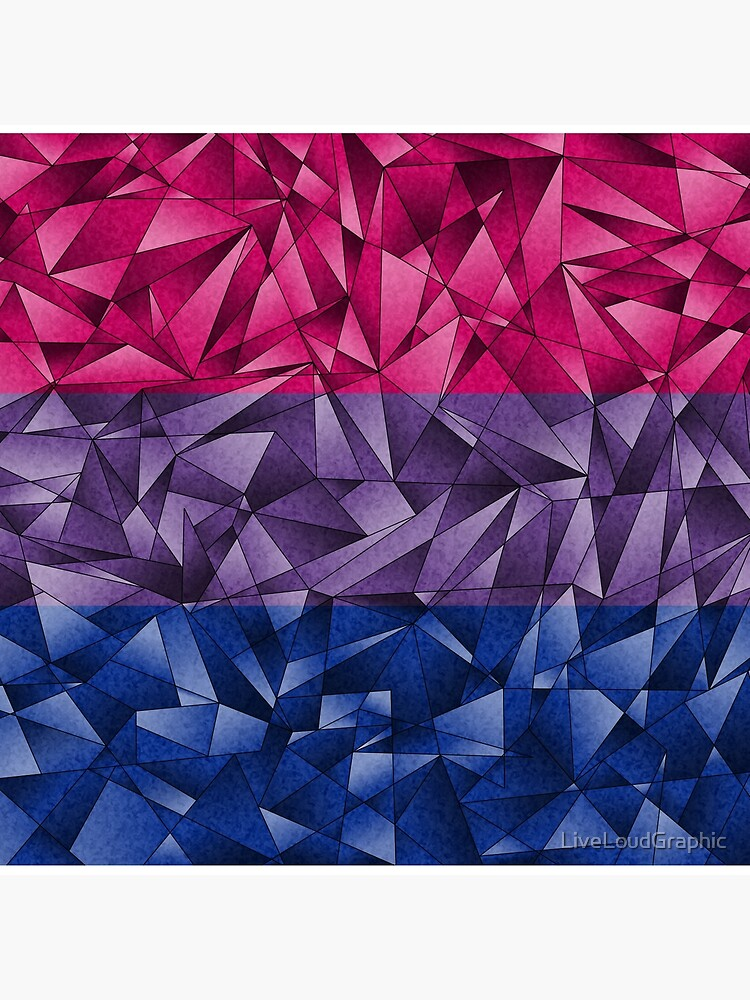 Abstract Bisexual Flag by LiveLoudGraphic