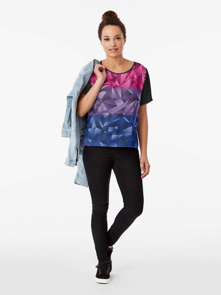Alternate view of Abstract Bisexual Flag Chiffon Top