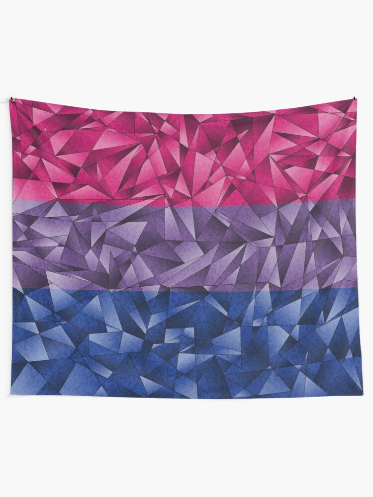 Alternate view of Abstract Bisexual Flag Tapestry