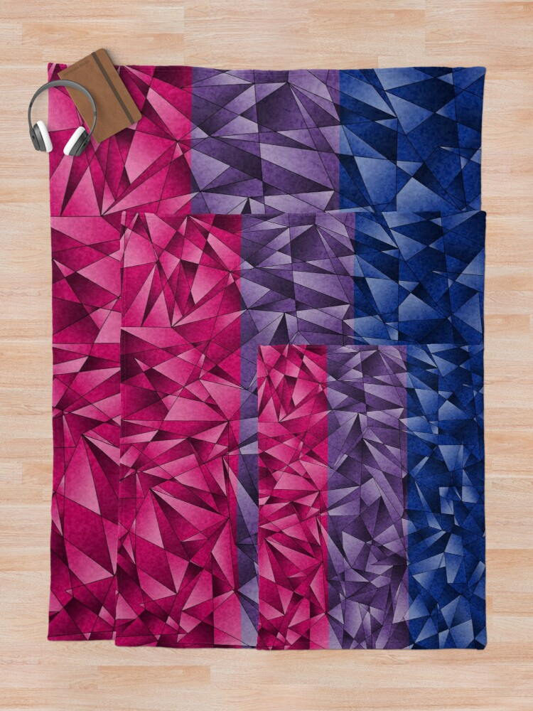 Alternate view of Abstract Bisexual Flag Throw Blanket