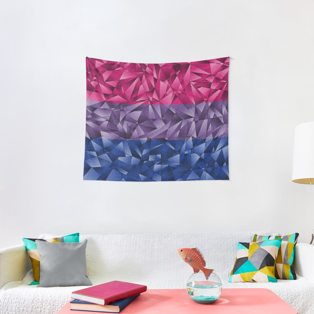 Abstract Bisexual Flag Tapestry