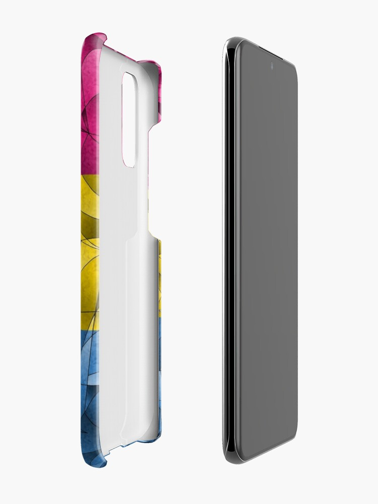 Alternate view of Abstract Pansexual Flag Case & Skin for Samsung Galaxy