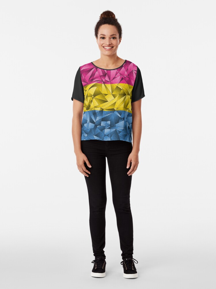 Alternate view of Abstract Pansexual Flag Chiffon Top