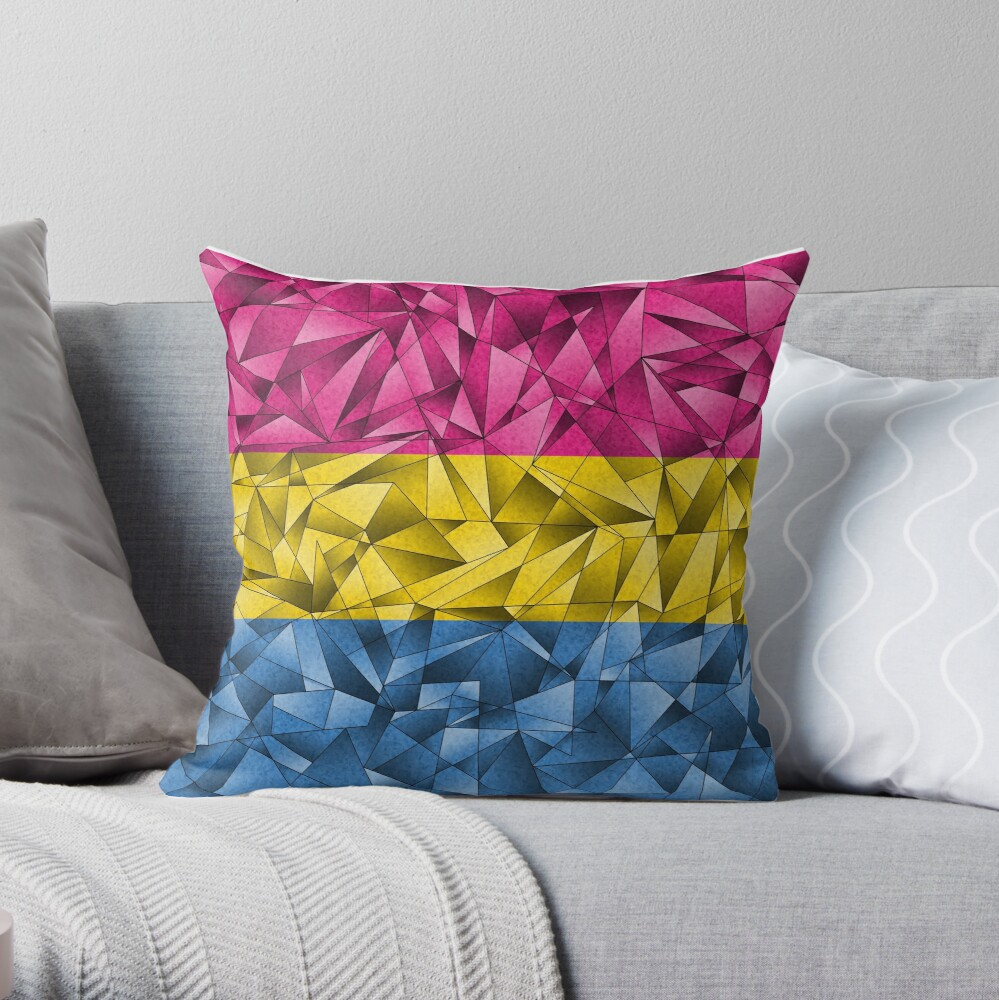 Abstract Pansexual Flag Throw Pillow