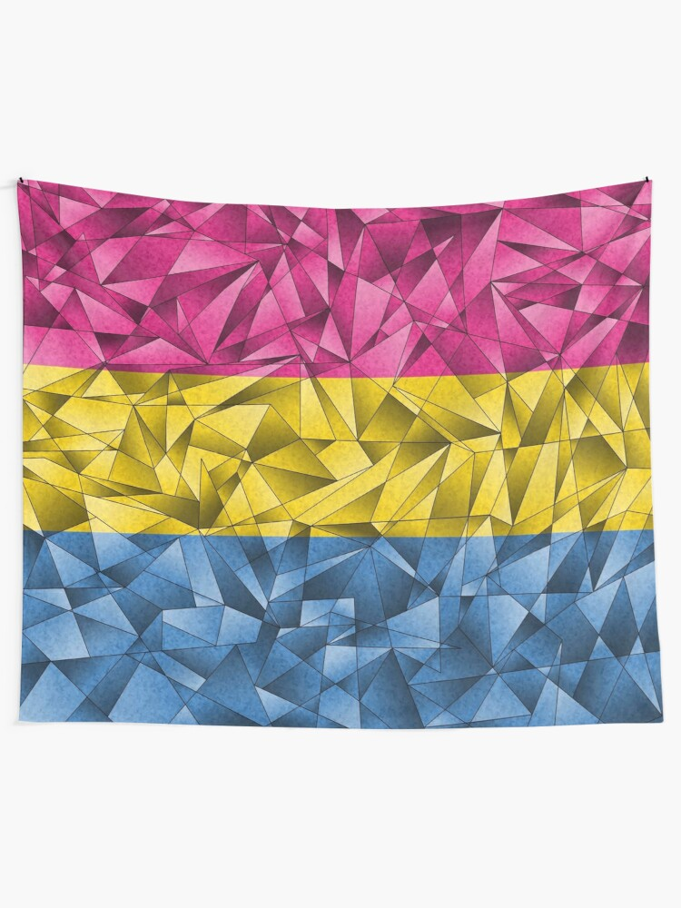 Alternate view of Abstract Pansexual Flag Tapestry