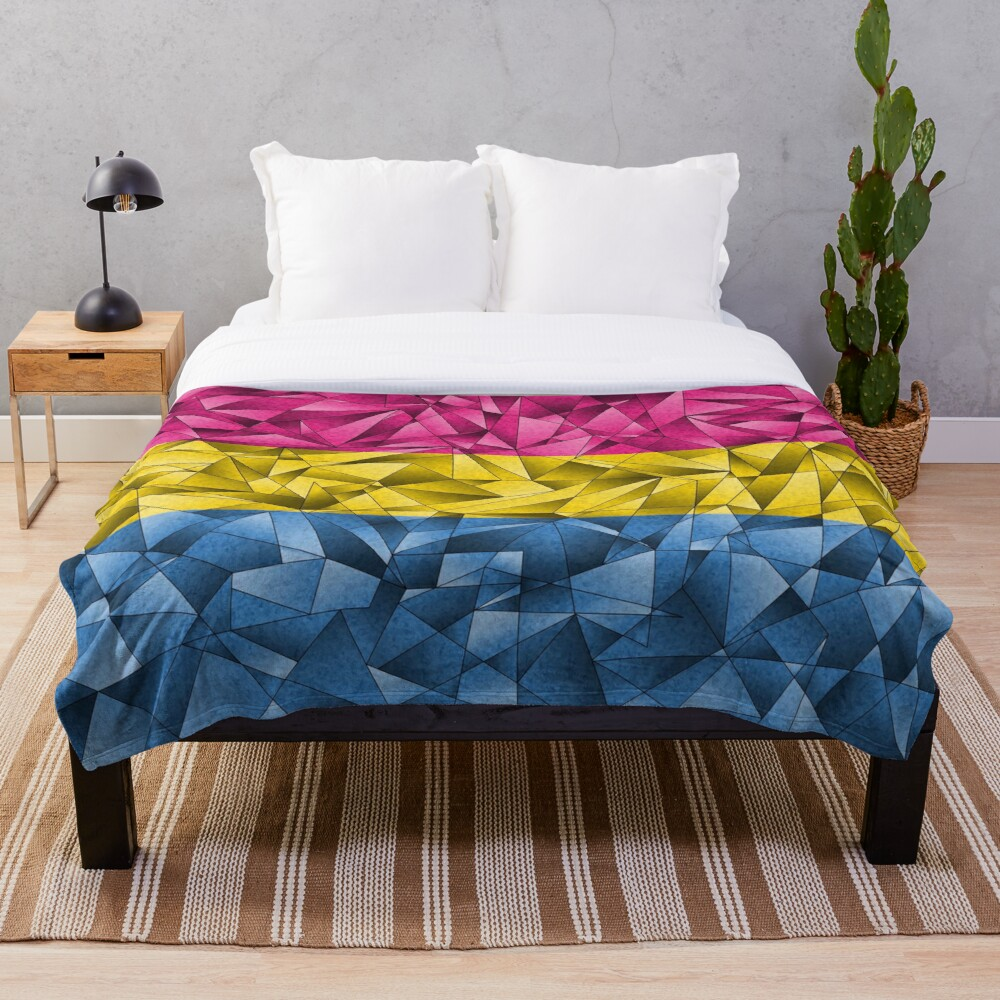 Abstract Pansexual Flag Throw Blanket
