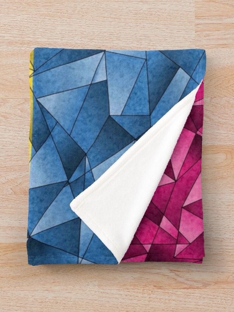 Alternate view of Abstract Pansexual Flag Throw Blanket