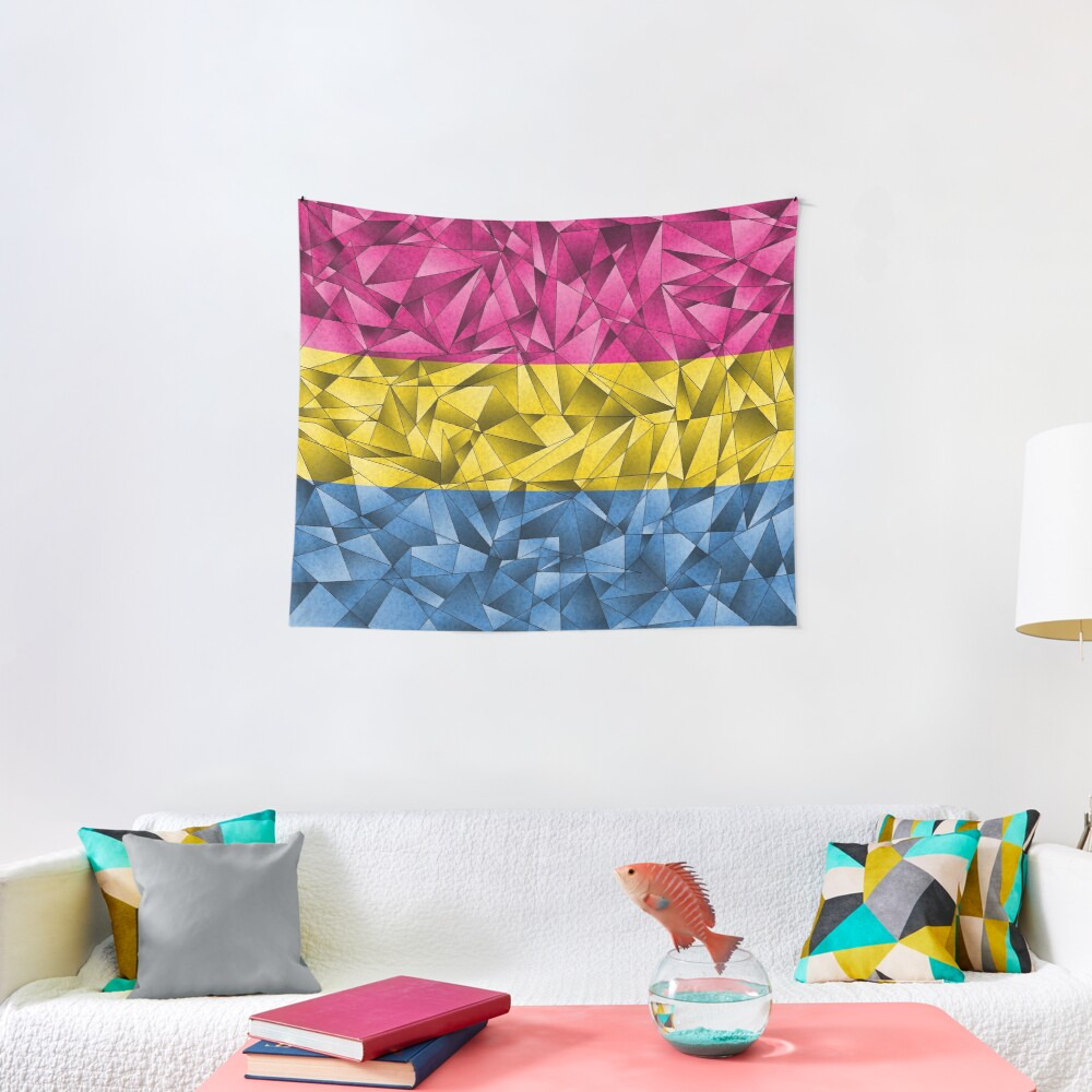 Abstract Pansexual Flag Tapestry
