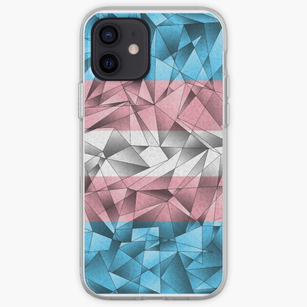 Abstract Transgender Flag iPhone Soft Case