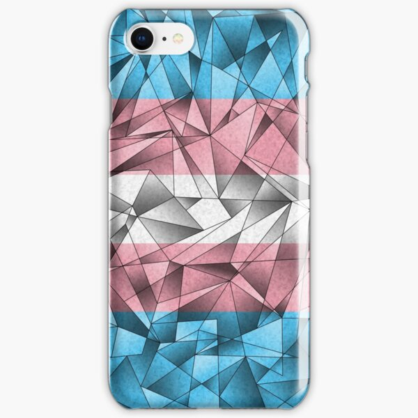 Abstract Transgender Flag iPhone Snap Case
