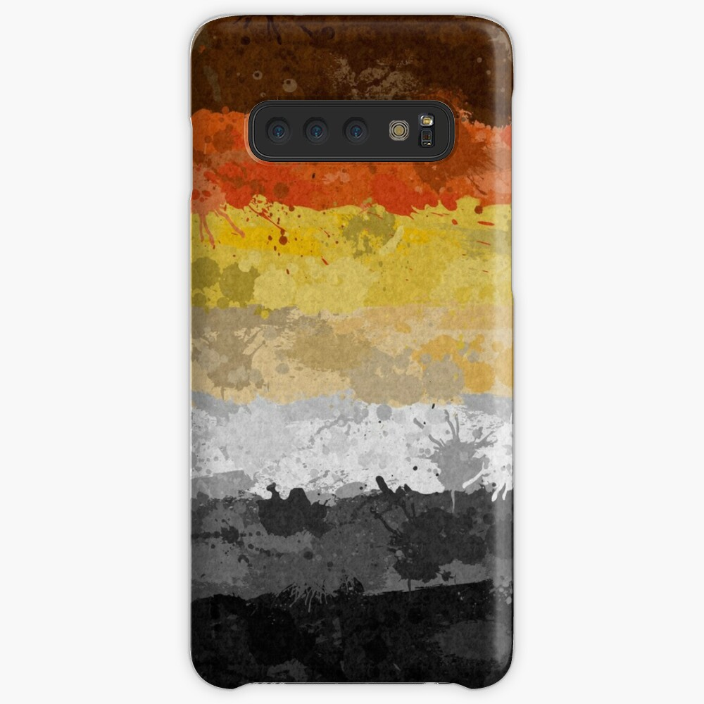 Bear Paint Splatter Flag Case & Skin for Samsung Galaxy
