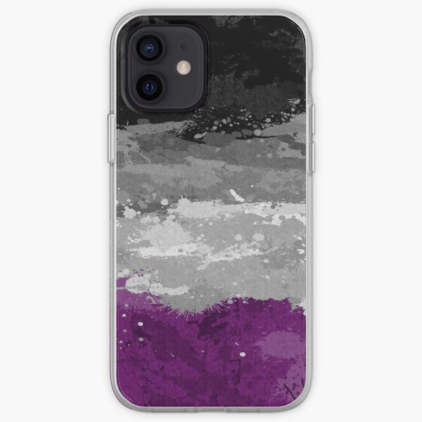 Asexual Paint Splatter Flag iPhone Soft Case