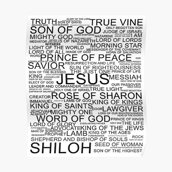 All the names of Jesus-Christ Poster