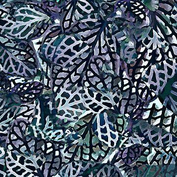 Tropical Jungle Leaves Mosaic by MenegaSabidussi