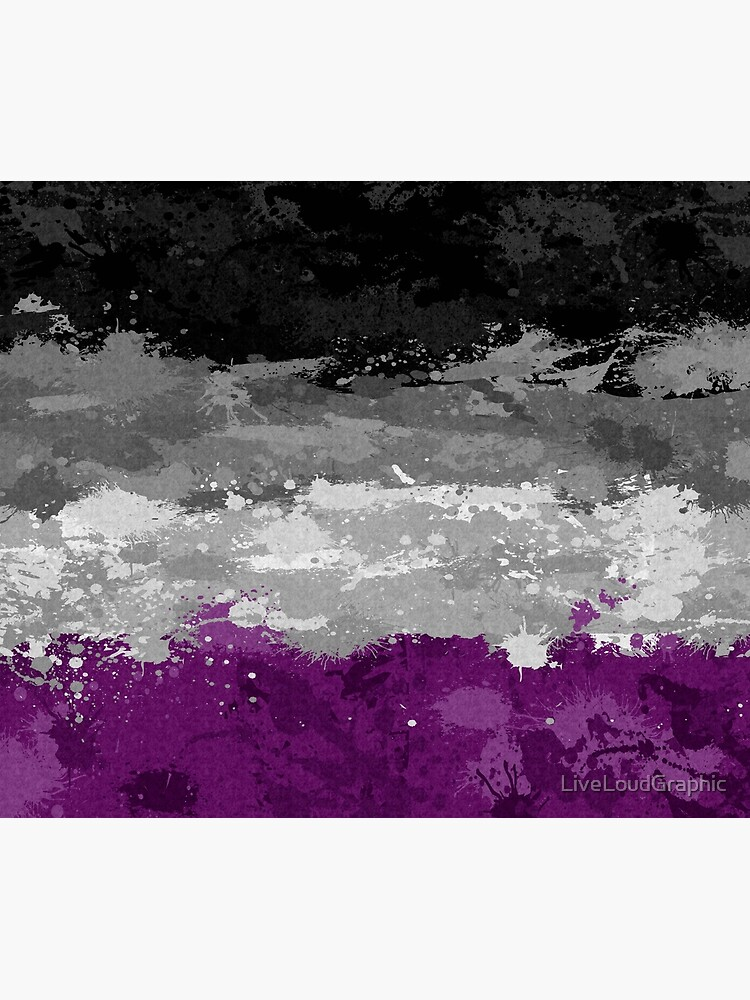 Asexual Paint Splatter Flag by LiveLoudGraphic