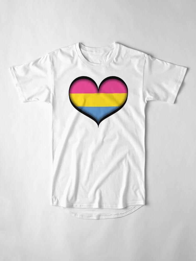 Alternate view of Pansexual Heart Long T-Shirt