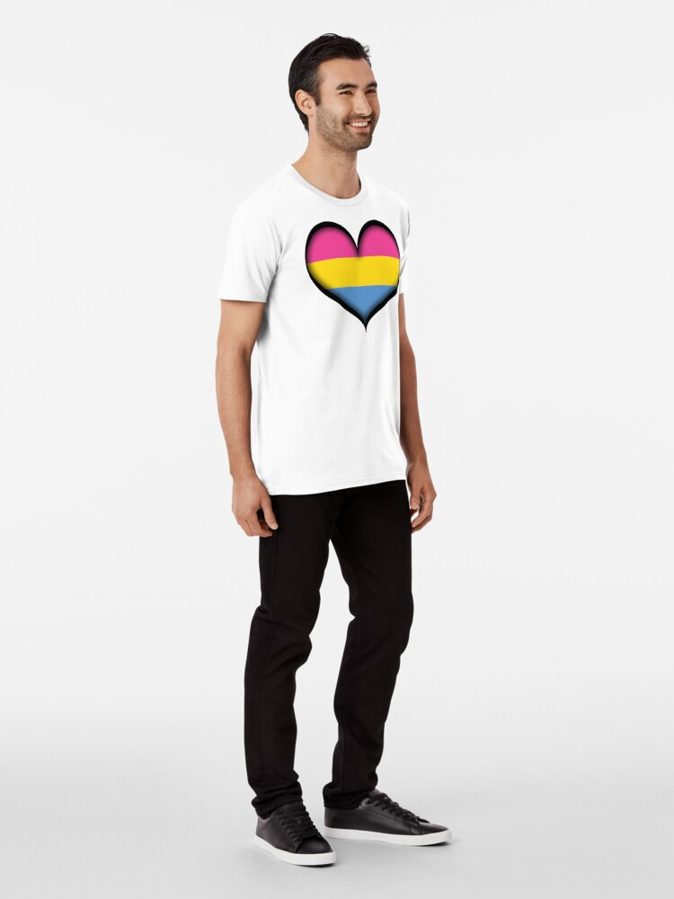 Alternate view of Pansexual Heart Premium T-Shirt