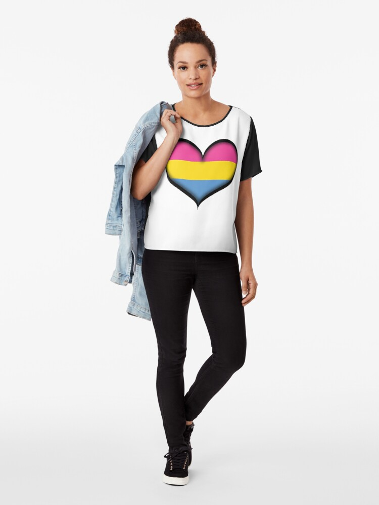 Alternate view of Pansexual Heart Chiffon Top