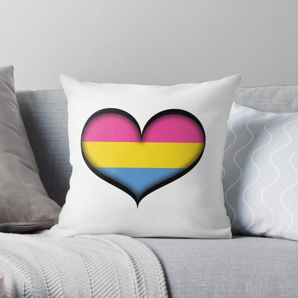 Pansexual Heart Throw Pillow