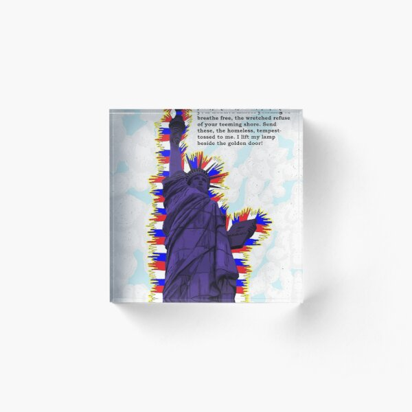 MAKE AMERICA PURPLE AGAIN Acrylic Block
