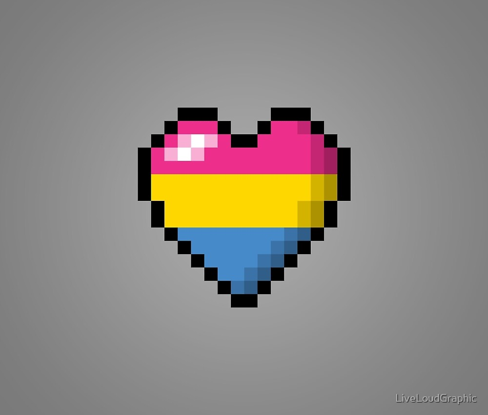 Pansexual Pixel Heart by LiveLoudGraphic