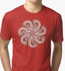 Seven Organic Arms Pods Seeds and Leaf Tri-blend T-Shirt