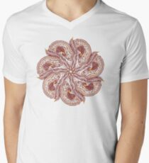 Seven Organic Arms Pods Seeds and Leaf Men's V-Neck T-Shirt